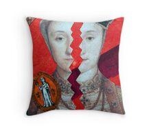 Royal Split Personality Throw Pillow