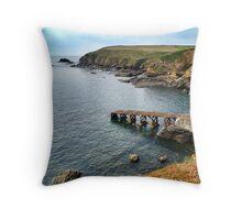 Lizard Point, Cornwall Throw Pillow