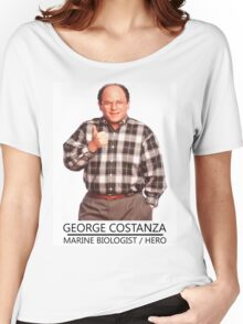 George Costanza Marine Biologist/hero Women's Relaxed Fit T-Shirt