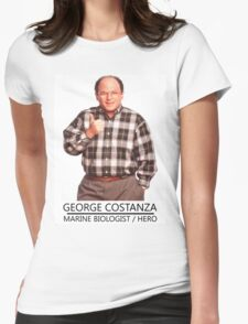 George Costanza Marine Biologist/hero Womens Fitted T-Shirt