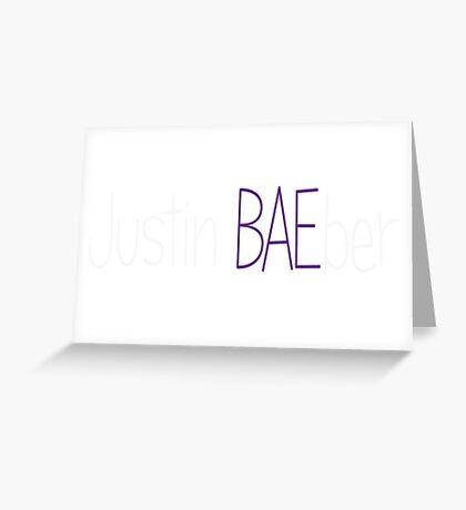 Justin Bieber Baeber Greeting Card