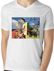 4D World View Mens V-Neck T-Shirt