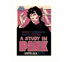 Vintage Poster - A Study In Pink Art Print