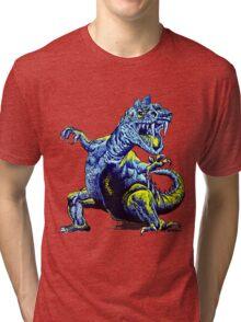 Old Blue Dinosaur Tri-blend T-Shirt