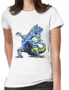 Old Blue Dinosaur Womens Fitted T-Shirt