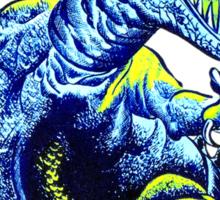 Old Blue Dinosaur Sticker