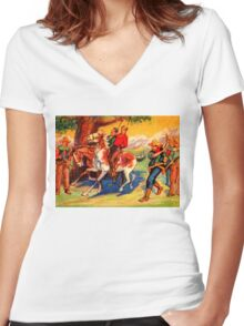 DIY WesternStyle Justice Women's Fitted V-Neck T-Shirt