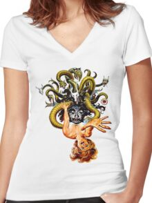 Dunwich Lovecraft Women's Fitted V-Neck T-Shirt