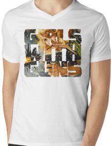Girls With Guns Logo Mens V-Neck T-Shirt