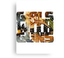 Girls With Guns Logo Canvas Print