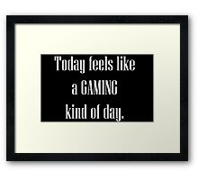 Game All Day Framed Print