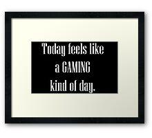 Game All Day Framed Print