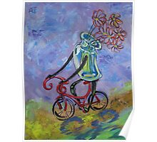 Jar on bike Poster