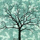 TREE ON DESIGN PAPER by RainbowArt