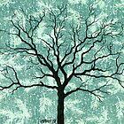 TREE ON DESIGN PAPER by RainbowArt