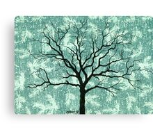 TREE ON DESIGN PAPER Canvas Print