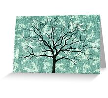 TREE ON DESIGN PAPER Greeting Card