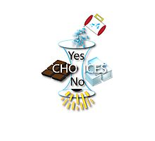 Yes + No = Choice Photographic Print