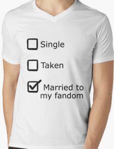 Married to my fandom Mens V-Neck T-Shirt
