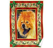 Chow Chow Dog Christmas Poster