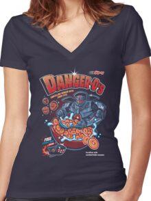 DANGER-O'S Women's Fitted V-Neck T-Shirt
