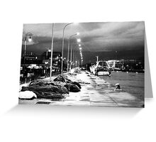 The dock on the river at night N°2 Greeting Card