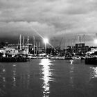 The harbor at night by orsinico