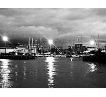 The harbor at night Photographic Print