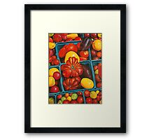 Heirloom Tomatoes, Grand Central Market Framed Print