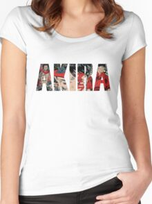 Akira Collage Logo Women's Fitted Scoop T-Shirt