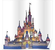 Watercolor Castle Poster