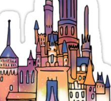 Watercolor Castle Sticker