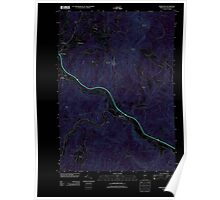 USGS Topo Map  Vermont VT Middlesex 20120509 TM Inverted Poster