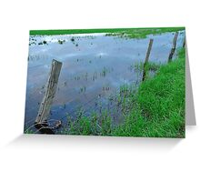 flooded fencing Greeting Card
