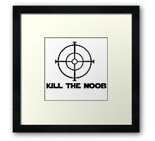 kill the noob target video game Framed Print