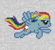 Pixel Rainbow Dash by Flaaffy