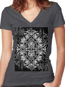 Black God Women's Fitted V-Neck T-Shirt