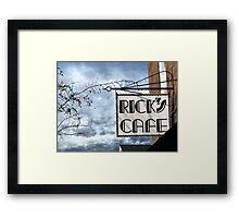 Rick's Cafe Framed Print