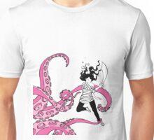 Squid Slayer Pink - Caroline Mudge Unisex T-Shirt