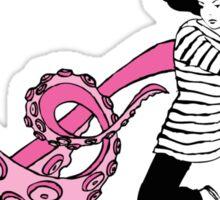 Squid Slayer Pink - Caroline Mudge Sticker