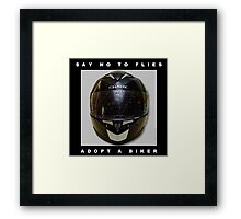 Say no to flies Framed Print