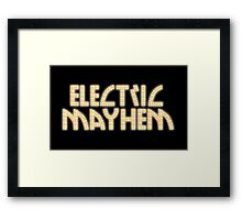 Electric Mayhem Framed Print