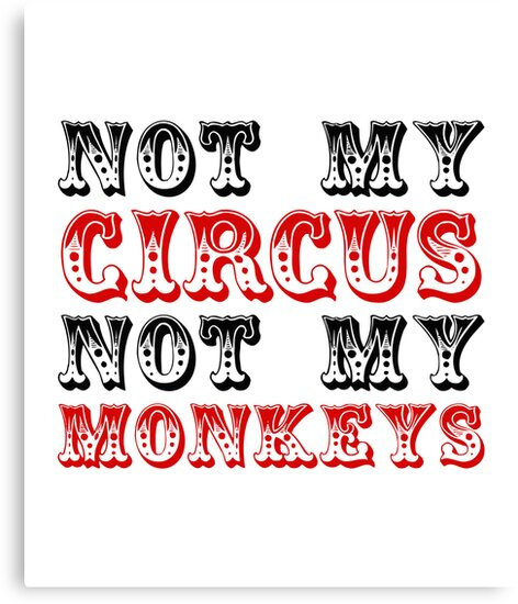 Not my circus not my monkeys by moonshine and lollipops