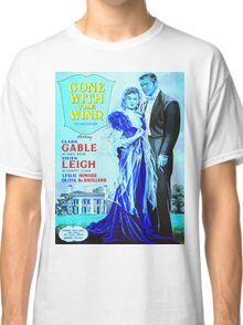 English poster of Gone with the Wind Classic T-Shirt