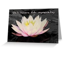 with sympathy for autumnwind Greeting Card