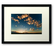 Search Lights At Sunset Framed Print