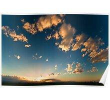 Search Lights At Sunset Poster