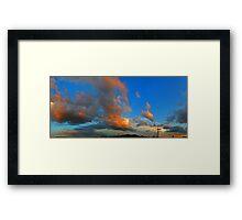 ©HCS The Orange Glow In Cumulus Framed Print