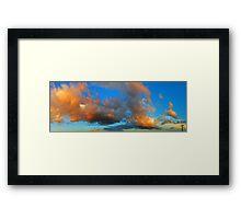 ©HCS The Orange Glow In Cumulus II Framed Print