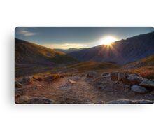 Sunrise on Torreys Peak trail Canvas Print